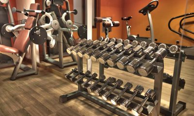 Dumbbells and other fitness equipment