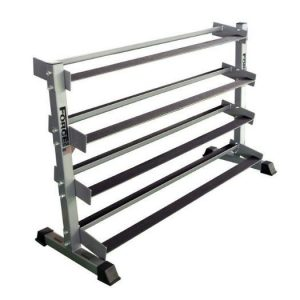 Force USA 4 Tier Rubber Hex Dumbbell Rack from gymandfitness.com.au