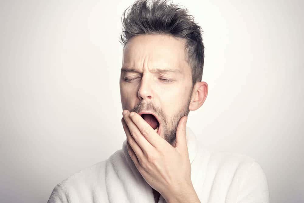 Yawning man, tired